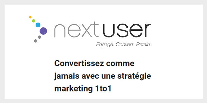 NextUser marketing technologie